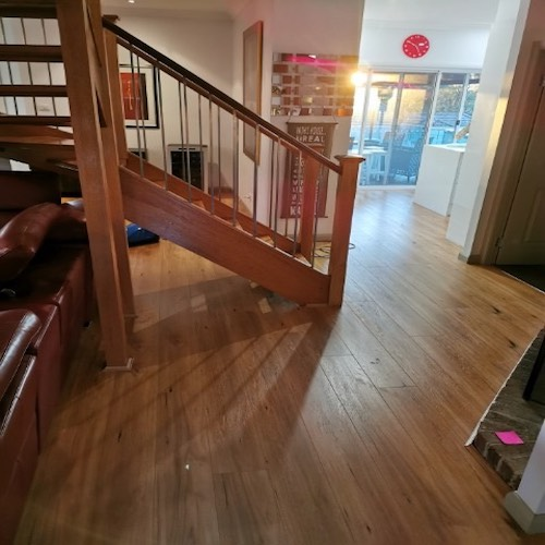 Blackbutt Laminate Stairs